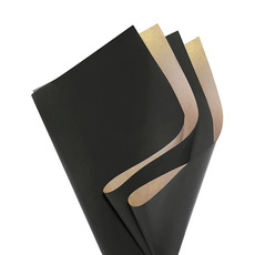 Coloured Kraft Paper - Brown Kraft Paper Coloured DUO 60gsm Black (53x76cm)Pack 100