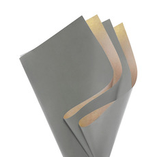 Coloured Kraft Paper - Brown Kraft Paper Coloured DUO 60gsm Charcoal(53x76cm) Pk100