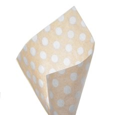17gsm Natural Tissue Paper Bold Dots 100Pack White (50x70cm)