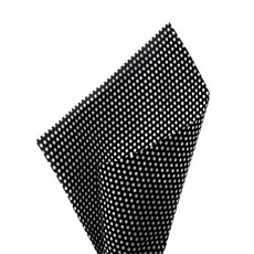 17gsm White Tissue Paper Small Dots 100Pack Black (50x70cm)