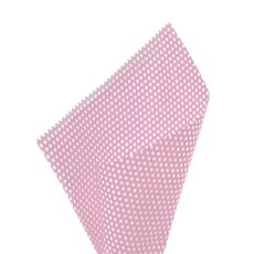 17gsm White Tissue Paper Small Dots 100Pack Baby Pink50x70cm