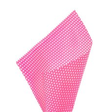 17gsm White Tissue Paper Small Dots 100Pack Hot Pink 50x70cm