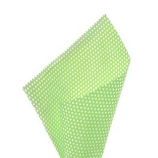 17gsm White Tissue Paper Small Dots 100Pack Lime (50x70cm)