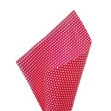 17gsm White Tissue Paper Small Dots 100Pack Red (50x70cm)