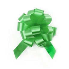 Ribbon Pull Bow Pom Pom Lime 5PK (18mmx8.75cmD)