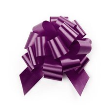 Ribbon Pull Bow Pom Pom 5 Pack Violet (12.5cmx32mm)