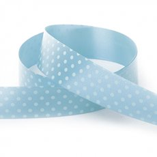 Ribbon Tear Dots 30mmx50m Baby Blue