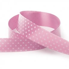 Ribbon Tear Dots 30mmx50m Baby Pink
