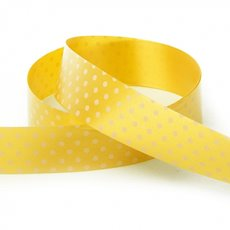 Ribbon Tear Dots 30mmx50m Yellow