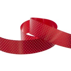 Pattern Tear Ribbons - Ribbon Tear Red with White Dots (30mmx91m)