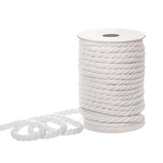Jute String & Rope - Cotton Rope 3 ply White (8mmx20m)