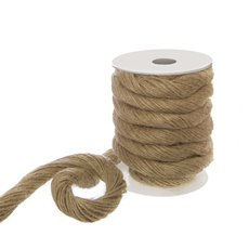 Jute String & Rope - Rope Natural Jute 50 Ends (15mmx4m)