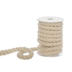 Jute String & Rope - Cotton Rope 3 ply Cream (18mmx5m)