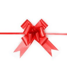 Pull Bows - Ribbon Pull Bow Red (32mmx53cm) Pack 25