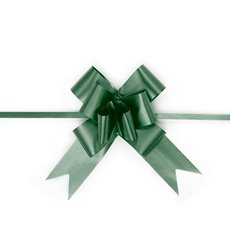 Ribbon Pull Bow 25 Pack Hunter Green (32mmx53cm)
