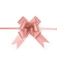 Ribbon Pull Bow 25 Pack Pink (32mmx53cm)