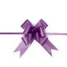 Ribbon Pull Bow 25 Pack Violet (32mmx53cm)