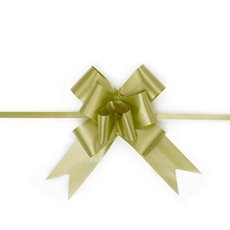 Ribbon Pull Bow 25 Pack Moss (32mmx53cm)