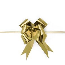Pull Bows - Ribbon Pull Pack Metallic Gold (32mmx53cm) Pack 25