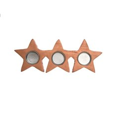Star Tealight Holder Copper (17.5x11x2.5cmH)