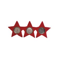 Star Tealight Holder Red (17.5x11x2.5cmH)
