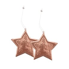 Metal Hanging Star 2 Pack Copper (8.8x8cmH)