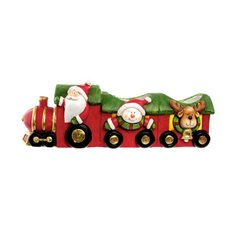 Ceramic Train Decoration Red (52x15x18.2cmH)