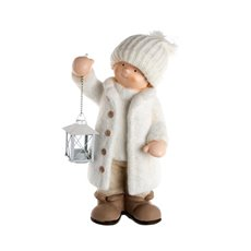 Tom Figurine Decoration with Lantern Cream (43.5cmH)