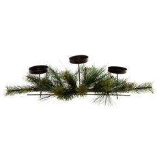 Pine Candle Arrangement Green (63cm)
