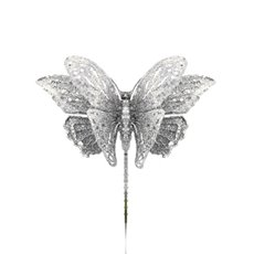 Butterfly Pick Large Pack 2 Silver (18x13cmH)