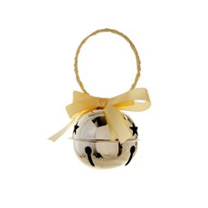 Hanging Noel Bell Decoration Champagne Gold (8cmD)