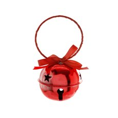 Hanging Noel Bell Decoration Red (8cmD)