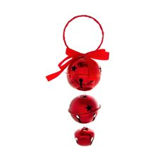 Hanging Noel Bell Decoration Red (18cmH)