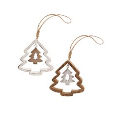 Hanging Tree Set of 2 Natural White (9cmH)