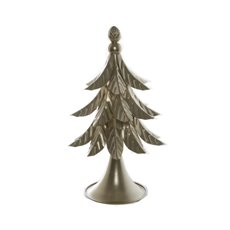 Decorative Christmas Trees - Metal Christmas Leaf Tree Gold (36x48.5cmH)