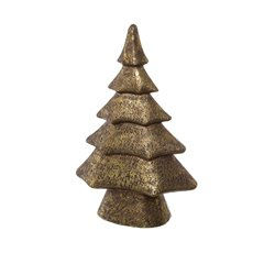 Decorative Christmas Trees - Ceramic Christmas Tree Decoration Gold (24x37cmH)