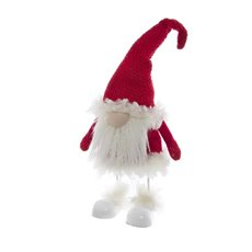 Fabric Gnome Ornament Shaking Legs Red (54cmHT)