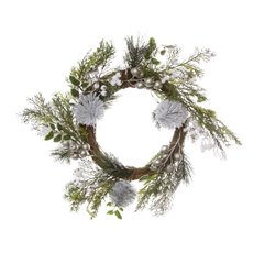 Christmas Wreath - Alpine Snow Berry Christmas Wreath White (45cm)