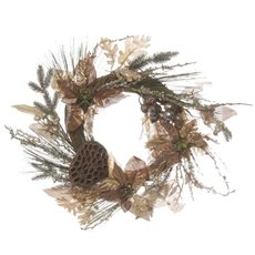 Christmas Wreath - Royal Floral Christmas Wreath Copper (45cm)