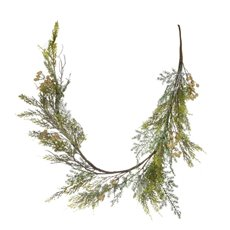 Christmas Garlands - Norfolk Pine Berry Christmas Garland Cream (132cm)