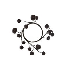 Christmas Wreath - Christmas Jingle Bells Rustic Candle Ring Brown (14cmD)