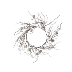Christmas Wreath - Christmas Jingle Bells Rustic Wreath Snowy White (30-40cm)