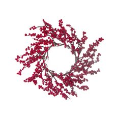 Lush Mixed Berry Twig Wreath Red (50cm)
