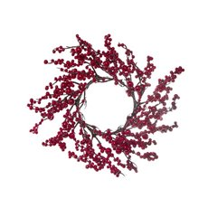 Lush Mixed Berry Candle Ring Red (35cm)