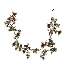 Holly Berry Garland Green (150cm)