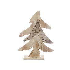 Wooden Tree Decoration with LED Lights (40cmH)