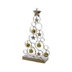 Decorative Christmas Trees - Metal Tree Decoration Gold (17X7X31cm)