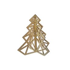 Tree Cut Out Decoration with Natural (37x40cmH)