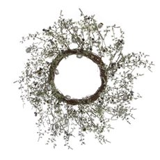 Pine Wreath with Gumnuts Silver Grey (45cm)