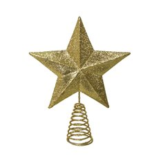 Christmas Tree Decorations - Christmas Tree Topper Star Decoration Gold (19x28cmH)